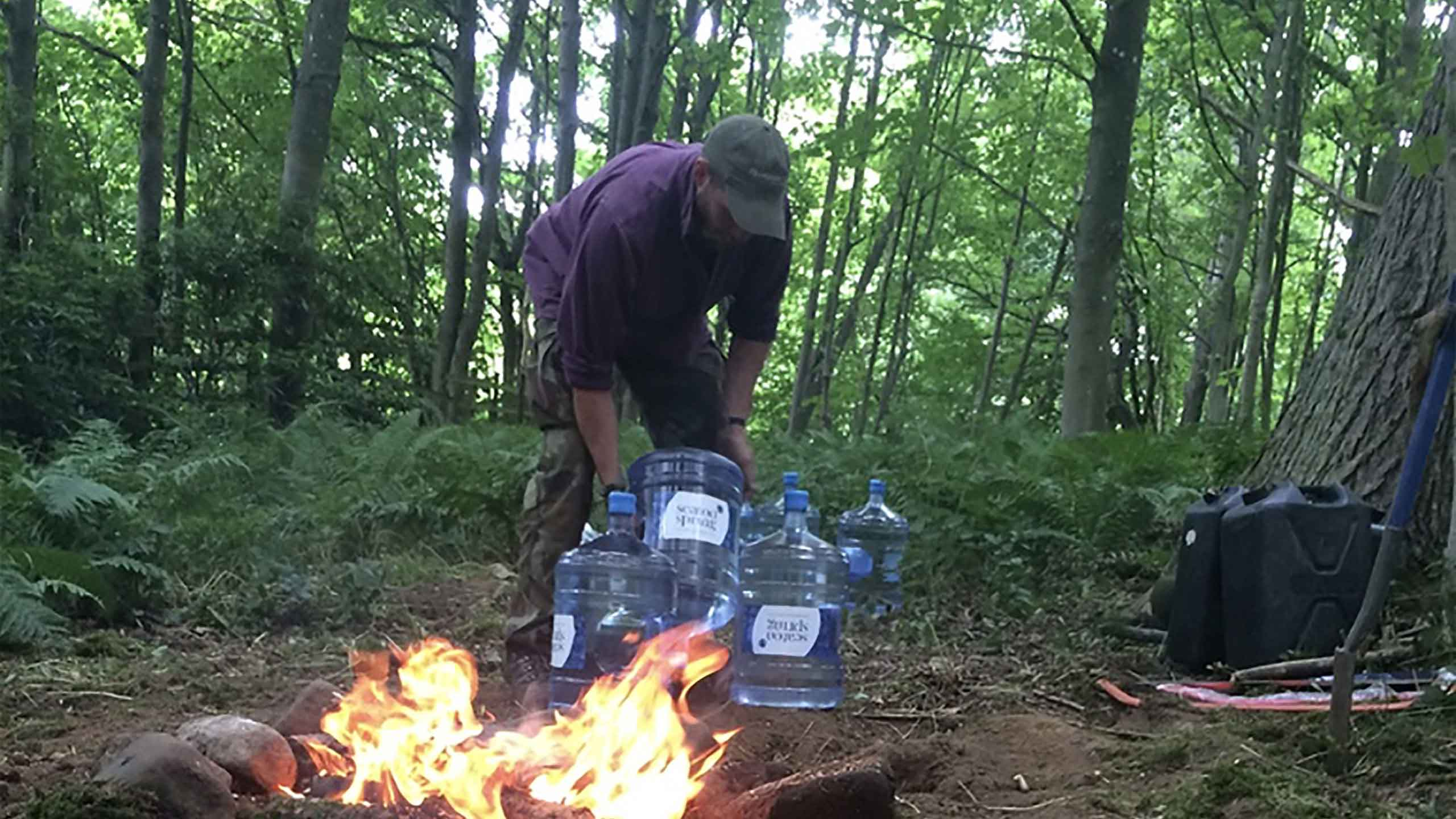 Seaton bottled water at survival camp